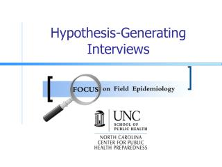 Hypothesis-Generating Interviews