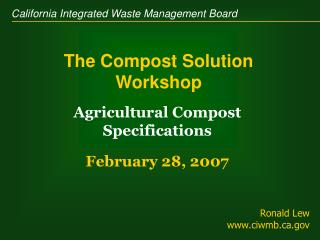 The Compost Solution Workshop
