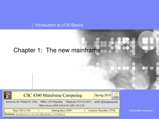 Chapter 1:  The new mainframe