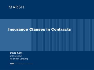 Insurance Clauses in Contracts