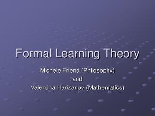 Formal Learning Theory
