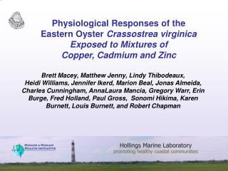 Physiological Responses of the Eastern Oyster Crassostrea virginica Exposed to Mixtures of Copper, Cadmium and Zinc