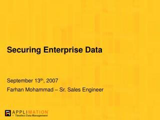 Securing Enterprise Data