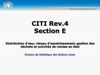 Division de Statistique des Nations Unies