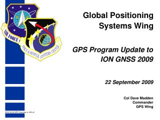 Global Positioning Systems Wing