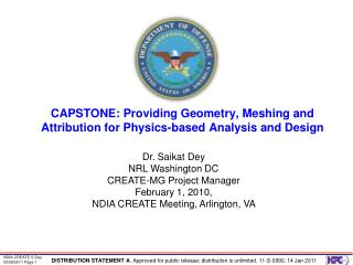 CAPSTONE: Providing Geometry, Meshing and Attribution for Physics-based Analysis and Design