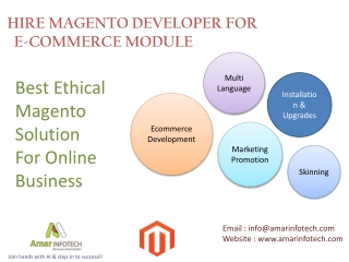 Hire Magento Developer For E-commerce