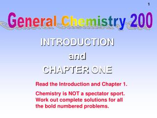 INTRODUCTION and CHAPTER ONE
