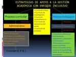 ESTRATEGIAS DE APOYO A LA GESTI N ACAD MICA CON ENFOQUE INCLUSIVO