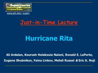 Just-in-Time Lecture Hurricane Rita