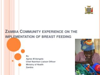 Zambia Community experience on the implementation of breast feeding
