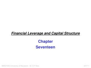 Financial Leverage and Capital Structure