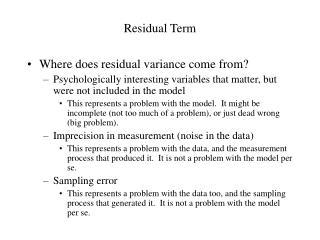 Residual Term
