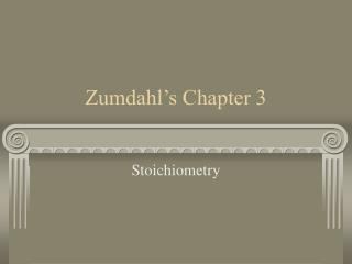 Zumdahl s Chapter 3