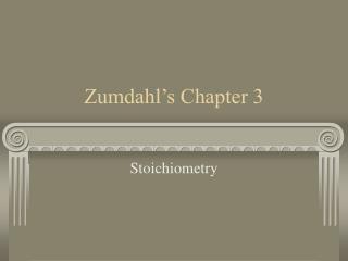 Zumdahl s Chapter 3