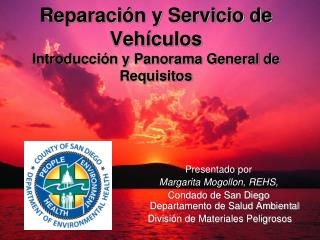 Reparaci n y Servicio de Veh culos Introducci n y Panorama General de Requisitos