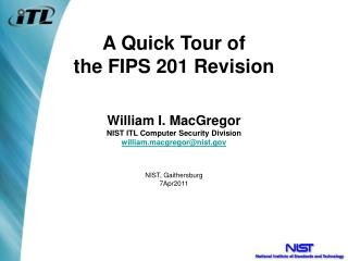 A Quick Tour of the FIPS 201 Revision