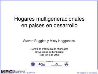 Hogares multigeneracionales en paises en desarrollo
