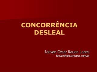 CONCORR NCIA DESLEAL