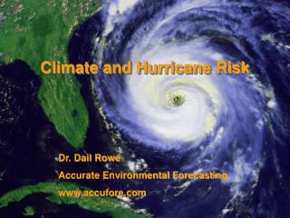 Climate and Hurricane Risk