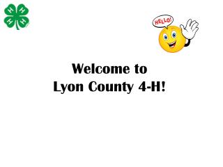 Welcome to  Lyon County 4-H