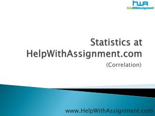 statistics at helpwithassignment.com (correlation)