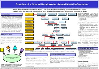 Creation of a Shared Database for Animal Model Information