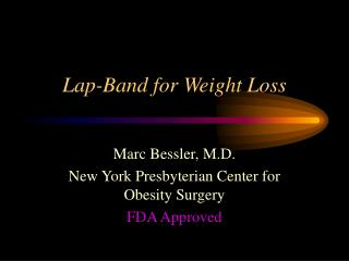 Lap-Band for Weight Loss