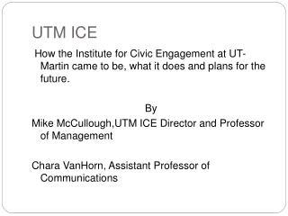UTM ICE