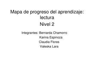 Mapa de progreso del aprendizaje: lectura Nivel 2
