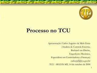 Processo no TCU