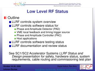 Low Level RF Status