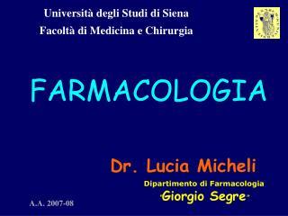 Universit  degli Studi di Siena Facolt  di Medicina e Chirurgia