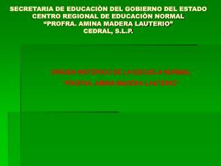 SECRETARIA DE EDUCACI N DEL GOBIERNO DEL ESTADO CENTRO REGIONAL DE EDUCACI N NORMAL  PROFRA. AMINA MADERA LAUTERIO  CEDR