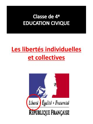 Les libert s individuelles et collectives