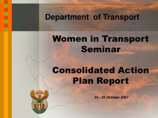 Women in Transport Seminar  Consolidated Action Plan Report