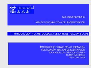 FACULTAD DE DERECHO   REA DE CIENCIA POL TICA Y DE LA ADMINISTRACI N