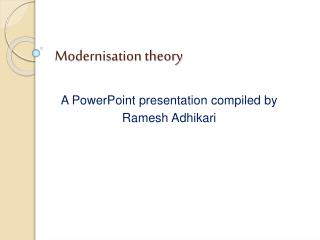 Modernisation theory