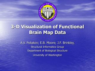 3-D Visualization of Functional Brain Map Data