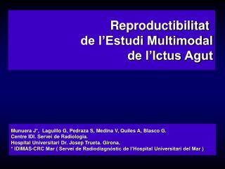 Reproductibilitat  de l Estudi Multimodal  de l Ictus Agut