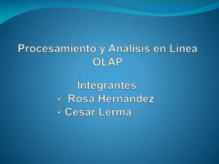 Procesamiento y An lisis en L nea OLAP