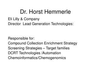 Dr. Horst Hemmerle
