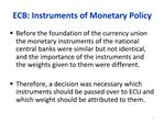 ECB: Instruments of Monetary Policy