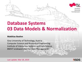 Datenbanksysteme II ORACLE