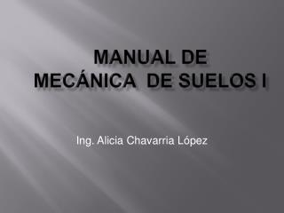 Manual de  Mec nica  de Suelos I
