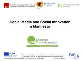 Social Media and Social Innovation a Manifesto