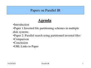 Papers on Parallel IR