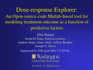 Dose-response Explorer: An Open-source-code Matlab-based tool for modeling treatment outcome as a function of predictive