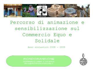 Percorso di animazione e sensibilizzazione sul Commercio Equo e Solidale