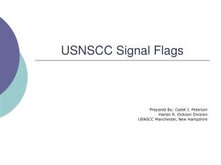 USNSCC Signal Flags